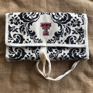 Handbags - Texas Tech Make up Travel Cosmetic Bag Logo